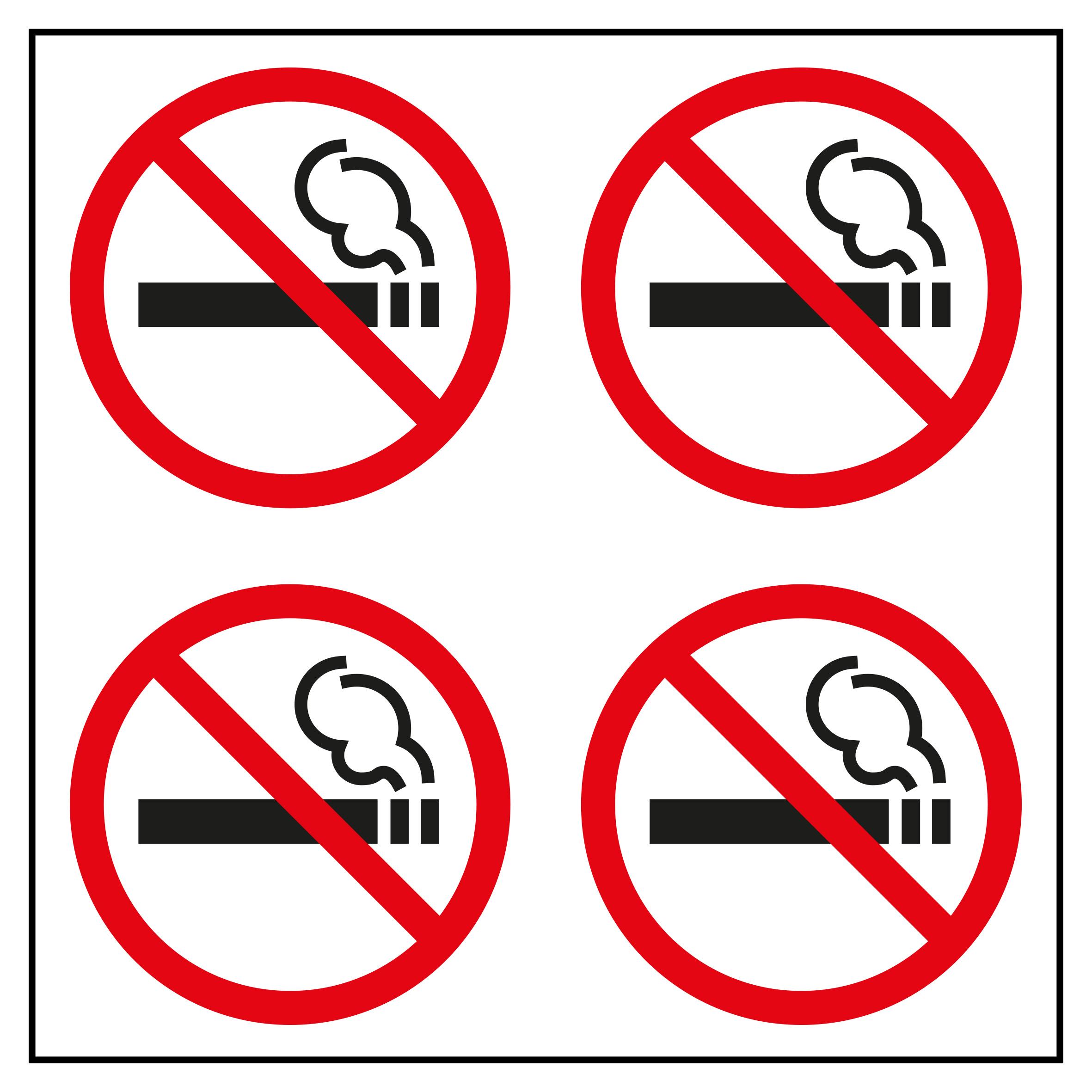 Apli 12139 Bolsa Etiquetas Prohibido Fumar Peque/ño