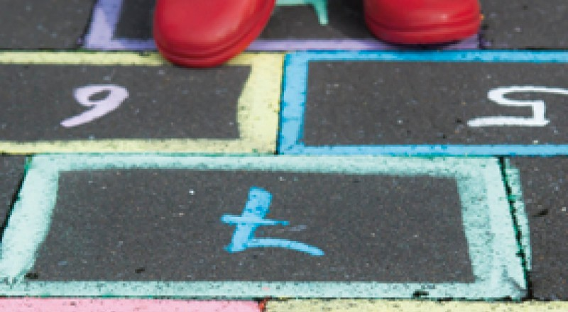 Child is play hopscotch
